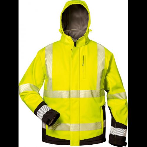 Softshellwarnjacke Melvin gelb-schwarz Gr Airsoft XXL Bekleidung & Schutzausrüstung